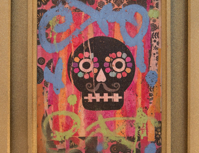 """24. """"Sr. Muerte"""" by Luis Fitch, Mixed Media, 11.5"""" x 15"""" // 2016, $240"""