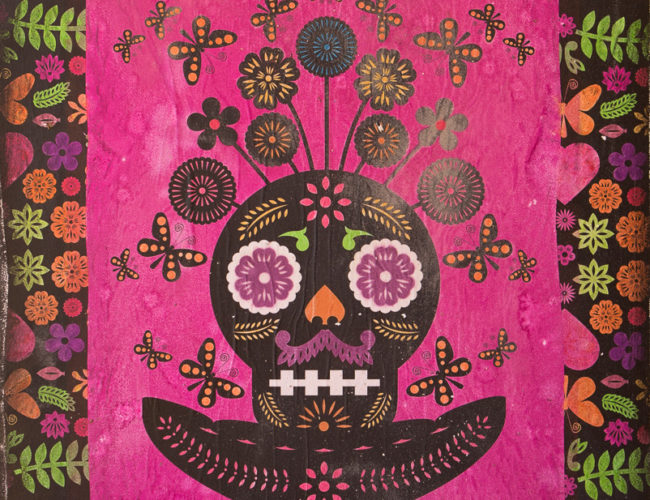 """27. """"Naturaleza Muerte"""" by Luis Fitch, Mixed Media on Canvas, 36"""" x 48"""" // 2016, $390"""