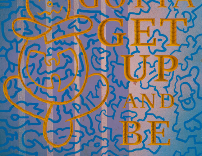"""41. """"ODB Is My Spirit Animal"""" by Repo - Cedar, Paint, Ink, 9"""" x 10"""" // 2016, $110"""