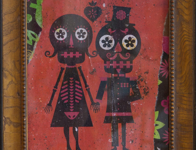 """50. """"Pareja"""" by Luis Fitch, Mixed Media, 11"""" x 13"""" // 2016, $90"""